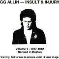 Gg Allin - Banned in Boston альбом